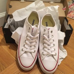 White Converse Low Tops - Brand New